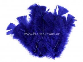 peříčka 11-17 cm Indigově modrá