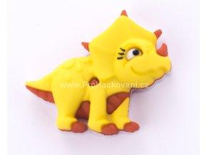 Knoflík exclusive Dinosaurus žlutý