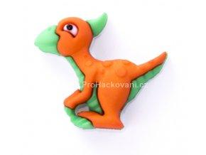 Knoflík exclusive Dinosaurus oranžový