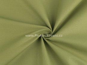 Bavlněná látka olivově zelená