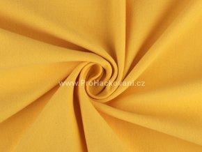 Teplákovina nepočesaná matná žlutá