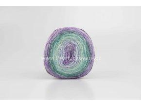 příze Peru Color 32415 fialová, modrá , zelená