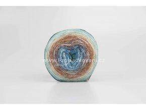 příze Peru Color 32416 modrá, zelená, rezavá, krémová