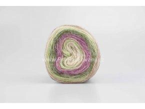 příze Peru Color 32414 smetanová, fialová, zelená