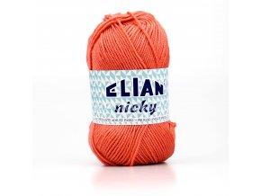 příze Elian Nicky 4275 korálově oranžová