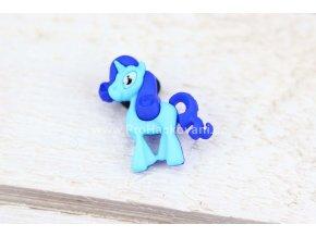 Knoflík exclusive Koník modrý