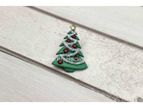 Knoflík exclusive Vánoční stromeček lepící
