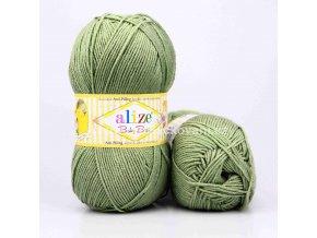 příze Baby Best 138 olivově zelená