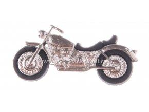 Knoflík exclusive Motorka stříbrná