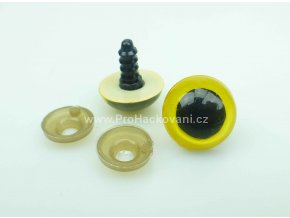 Oči bezpečnostní žluté 18 mm