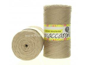 Cotton Macrame Maccaroni 29 béžová