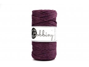 Bobbiny 3PLY  Macrame Regular 3 mm ostružina  ( BLACKBERRY)