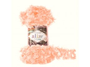 příze Puffy Fur 6102 lososově růžová