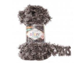 příze Puffy Fur 6105 šedohnědá