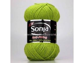 příze Sonja 212 zelené jablko