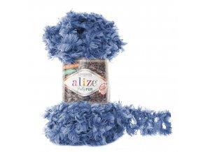 příze Puffy Fur 6116 modrá jeans