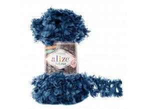 příze Puffy Fur 6114 tmavě modrá