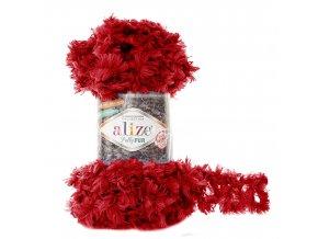 příze Puffy Fur 6109 červená