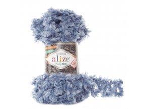 příze Puffy Fur 6106 ledově modrá