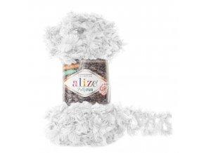 příze Puffy Fur 6100 bílá