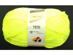 příze Yetti 50010 Neon žlutá