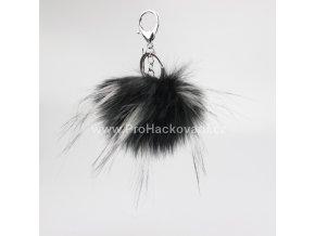 Bambule Exclusive 10 cm se stříbrnou karabinou - Černá s bílými konečky81JN M (1)