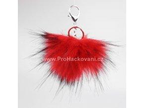 Bambule Exclusive 10 cm se stříbrnou karabinou - červená s černými konečky131JEX M (3)