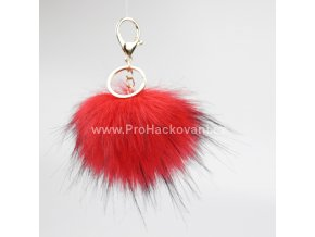 Bambule Exclusive 10 cm se zlatou karabinou - červená s černými konečky131JEX M (4)