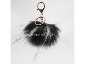 Bambule Exclusive 10 cm s mosaznou karabinou - Černá s bílými konečky81JN M (3)