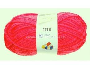 příze Yetti 50013 Neon červená