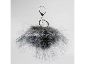 Bambule Exclusive 10 cm se stříbrnou karabinou - tmavě šedá s černými konečky84 34 Z (1)