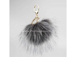 Bambule Exclusive 10 cm se zlatou karabinou - tmavě šedá s černými konečky84 34 Z (4)