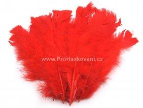 peříčka 11-17 cm Šarlatově červená