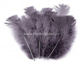 Peříčka 11-17 cm šedá