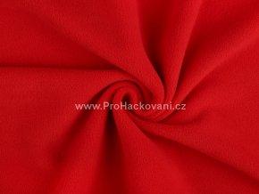 latka fleece svetlejsi cervena