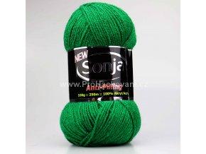 příze Sonja 58 tmavší zelená