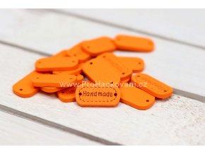 Hand made dřevěný oválný oranžový