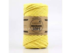 Macrame Rope 4 mm žluté