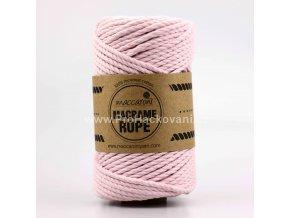 Macrame Rope 4 mm světle růžová0403L