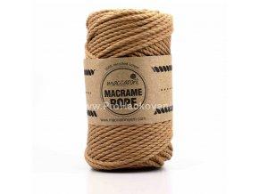 Macrame Rope 4 mm oříšková0408L