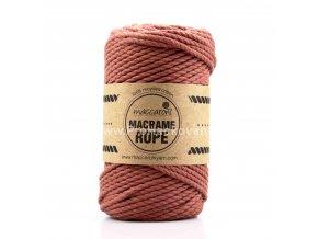 Macrame Rope 4 mm starorůžově hnědá