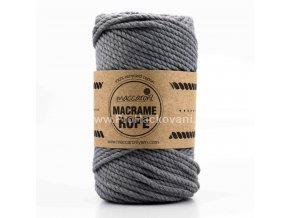 Macrame Rope 4 mm šedá