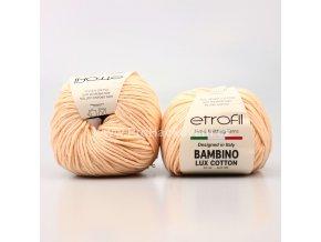 příze Bambino Lux Cotton 70021 světlé lososová