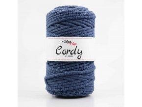 šňůry Cordy 5 mm jeans světlá