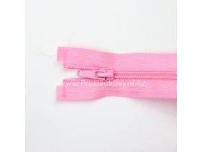 Spirálový zip dělitelný 40 cm růžový