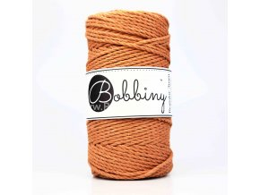 Bobbiny 3PLY  Macrame Regular 3 mm rezavá (TERRACOTTA)