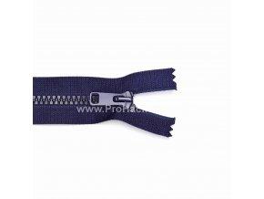 Kostěný zip dělitelný 75 cm tmavě modrý