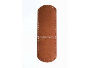 Koženkové dno na kabelku 10 x 30 cm hnědé koňak