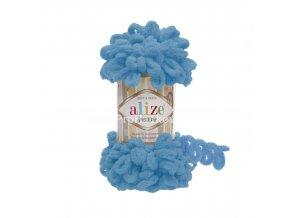 příze Puffy 16 sytá tyrkysově modrá