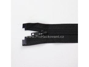 Spirálový zip dělitelný 80 cm černý